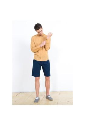 Adze Bej Uzun Kol Erkek Gömlek