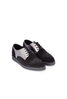 Swear Karin 2 Siyah Süet Metalik Ayakkabı
