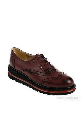 Derigo Kadın Günlük Ayakkabı Bordo Çift Yüz