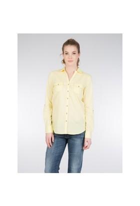Colin's Sarı Kadın Gömlek Uzun Kol