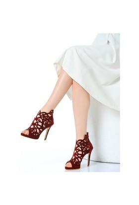 Derigo Kadın Topuklu Ayakkabı Bordo