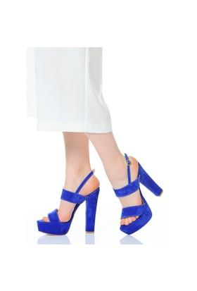 Derigo Kadın Topuklu Ayakkabı Saks