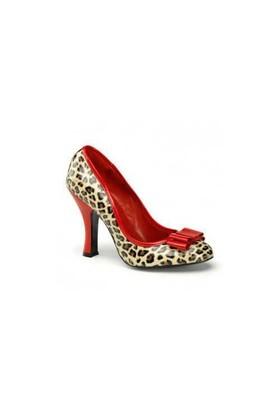 Pleaser Leopar Desenli Ayakkabı