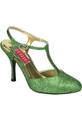 Pleaser Topuklu Yeşil Ayakkabı