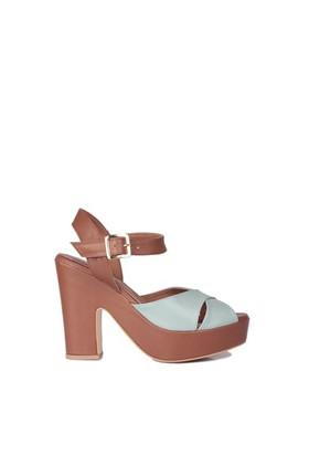 Loggalin 520909 031 172 Kadın Taba Mint Platform Ayakkabı