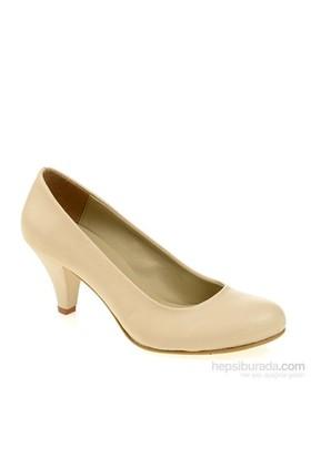 Derigo Kadın Topuklu Ayakkabı Bej