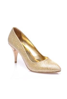 Sothe Mas-017 Altın Kadın Klasik Topuklu Ayakkabı