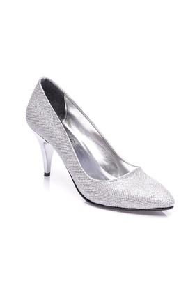 Sothe Mas-017 Gümüş Kadın Klasik Topuklu Ayakkabı