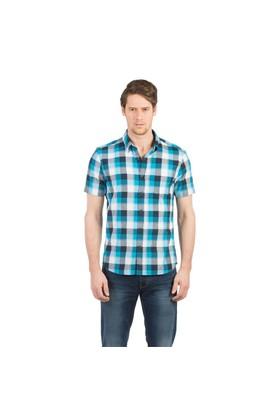 Colin's Turkuaz Erkek Gömlek Kısa Kol