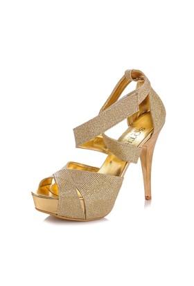 Sothe MAS-013 Altın Bayan Platformlu Ayakkabı