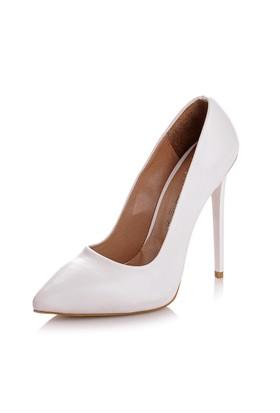 Sothe Zy-1976 Beyaz Bayan Stiletto Ayakkabı