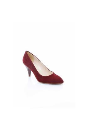 Shoes&Moda Bordo Süet Kadın Stiletto Ayakkabı 509-6-Nz011827