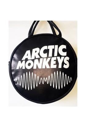 Köstebek Arctic Monkeys Logo Postacı Yuvarlak Çanta Kypç004