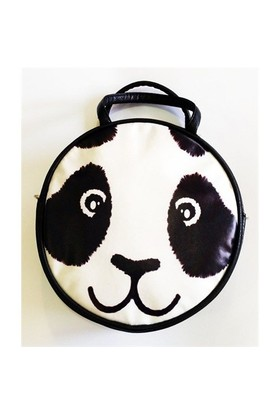 Köstebek Panda Face Postacı Yuvarlak Çanta Kypç018