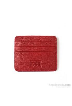 Leather&Paper Kırmızı Deri Kredi Kartlık