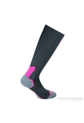 Norfolk Kadın Koşu Çorabı Siyah Fuşya