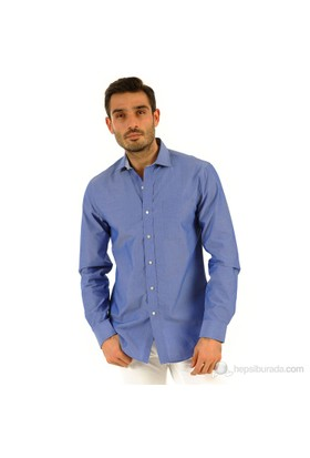 Tommy Hilfiger Erkek Slim Fit Gömlek Mavi