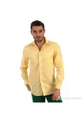 Tommy Hilfiger Erkek Slim Fit Gömlek Sarı