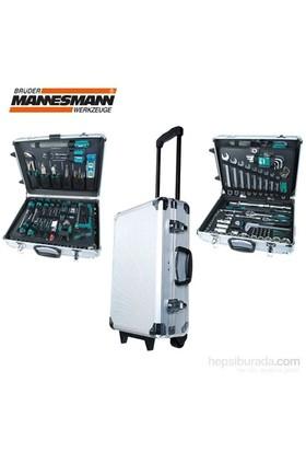 Mannesmann 29077 Alüminyum Takım Çantalı - Tekerlekli Alet Seti, 159 Parça