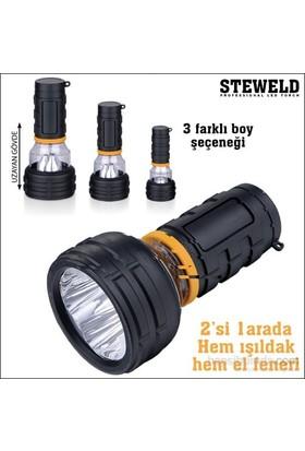Steweld 987A Çift Fonksiyonlu Led El Feneri Ve Işıldak 117X55mm
