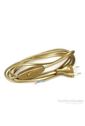 Aytaş Aydınlatma - Anahtarlı Fişli Masa Lambası Kablosu - Altın