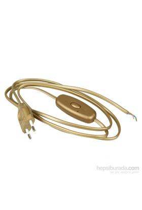 Aytaş Aydınlatma - Dim Özellikli - Anahtarlı Fişli Masa Lambası Kablosu - Altın