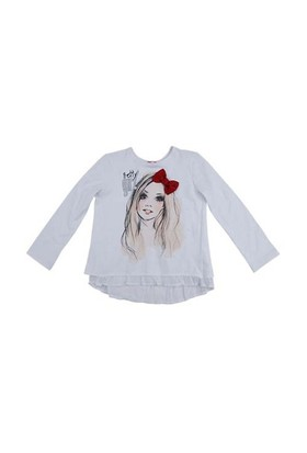 Zeyland Kız Çocuk Beyaz S-Shirt K-52Z4nhs64