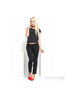 İroni Dar Paça Siyah Pantolon