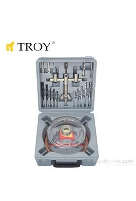 Troy 27491 Vantuzlu Daire Testere Seti (Ø 30-120Mm)
