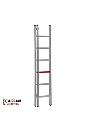 Çağsan 2x6 Basamaklı İki Parçalı Sürgülü Alüminyum Merdiven