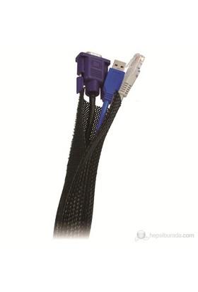 LogiLink Esnek Kablo Yöneticisi, Siyah, 1.8m
