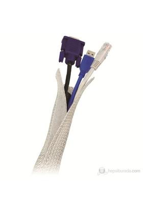 LogiLink KAB0007 Esnek Kablo Yöneticisi, Gri,1.8m