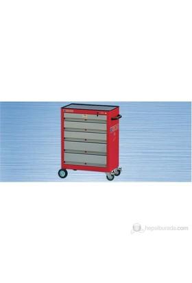 İzeltaş Tekerlekli Servis Dolabı 5 Çekmeceli Boş 390X670x920