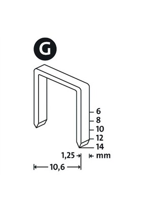 Novus G Tip 11/6Mm Yassı Zımba Teli 5000 Li Paket
