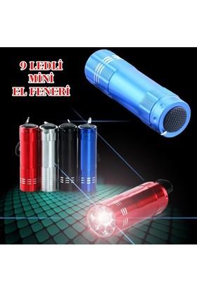 Actto Süper Parlak 9 Ledli Metal Mini El Feneri-Siyah