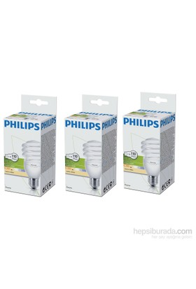 Philips Econtwister 23W E27 Duy Warmwhite 3'Lü Paket Sarı Işık