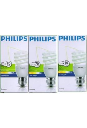 Philips Econtwister 15W E27 Duy Cooldaylight 3'Lü Paket Beyaz Işık