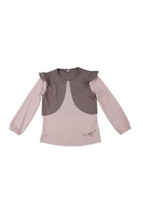 Zeyland Kız Çocuk Pembe T.Shirt Bis.Yaka K-42M504hed63