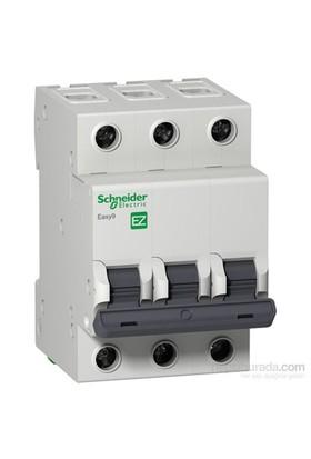 Schneider Electric Easy9 3 kA C Eğrisi 3 Kutup 25A Otomatik Sigorta