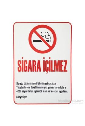 "İzmir Serigrafi Pvc Levha ""Sigara İçilmez"""