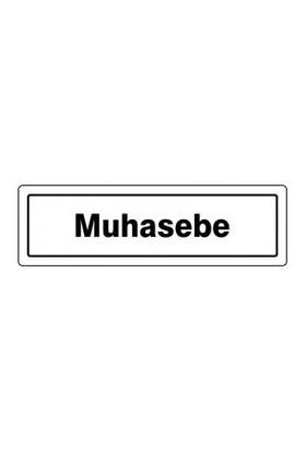 "Pvc Levha ""Muhasebe"" 7X25 Cm"