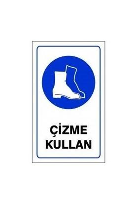 "Pvc Levha ""Çizme Kullan"" 15X25 Cm"