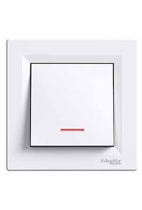 Schneider Electric Asfora Isıklı Anahtar Beyaz Çerçeveli