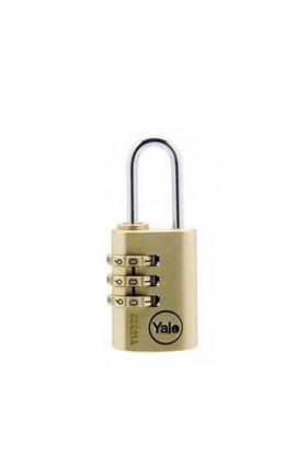 Yale 3 Şifreli Prinç Asma Kilit 22 mm 97232