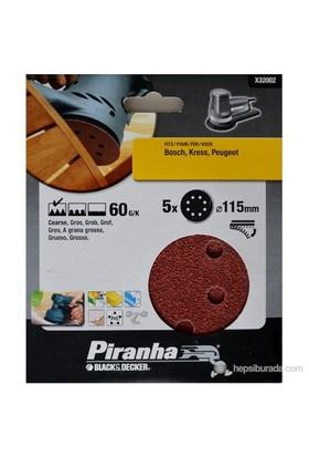 Piranha X32002 Eksantrik Zımpara İçin Kendinden Yapışkanlı Zımpara Diski 115Mm