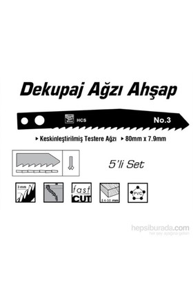 SGS HCS Tip NO.3 Ahşap İçin Dekupaj Ağzı Testere 80 mm x 7,9 mm 010152