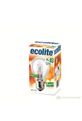 Ecolite Haloclassic Enerji Tasarruflu Akkor Halojen Ampul 70W Şeffaf
