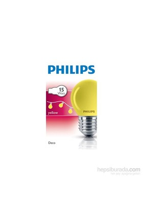 Philips Party 15W E27 220-240V P45 Ye 1Ct/10X10f