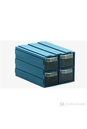 Sançelik 304 Plastik Çekmeceli Kutu (12 Adet)