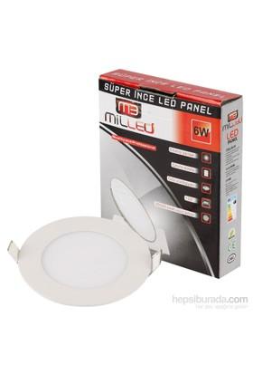 Milled Slim Led Panel 600Lm 6W - Beyaz Işık
